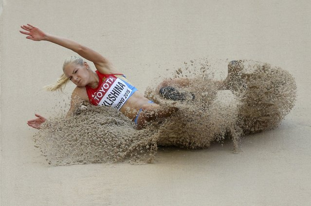 Darya Klishina of Russia competes in the women's long jump qualifying round during the 15th IAAF World Championships at the National Stadium in Beijing, China, August 27, 2015. (Photo by Dylan Martinez/Reuters)
