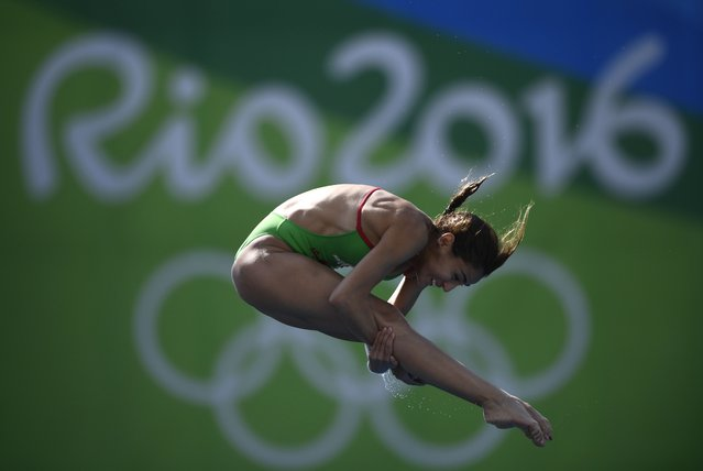 Mexico's Paola Espinosa Sanchez takes part in the Women's 10m Platform Semifinal during the diving event at the Rio 2016 Olympic Games at the Maria Lenk Aquatics Stadium in Rio de Janeiro on August 18, 2016. (Photo by Martin Bureau/AFP Photo)