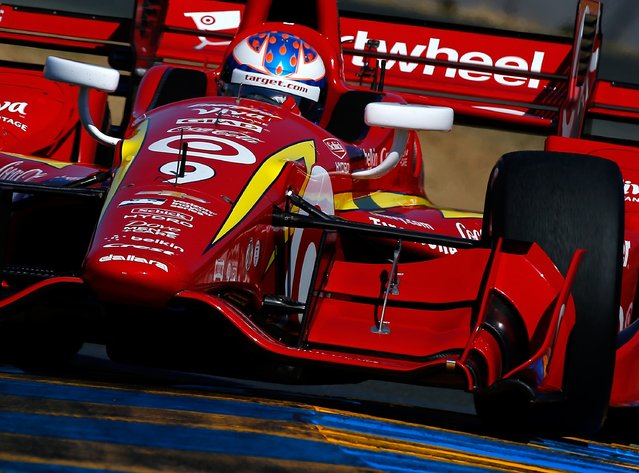 Scott Dixon of New Zealand drives the #9 Target Chip Ganassi Racing Chevrolet Dallara during practice for the GoPro Grand Prix of Sonoma at Sonoma Raceway on September 17, 2016 in Sonoma, California. (Photo by Jonathan Ferrey/Getty Images)