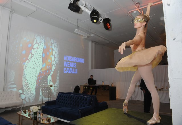 Performers dance during the Disaronno Wears Cavalli global launch event on October 15, 2015 at Milk Studios in New York City. (Photo by Craig Barritt/Getty Images for Disaronno)