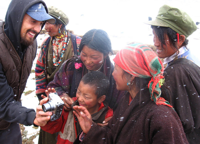 Photographer Tom Carter in Kham, eastern Tibet. (Photo by Tom Carter/The Atlantic)
