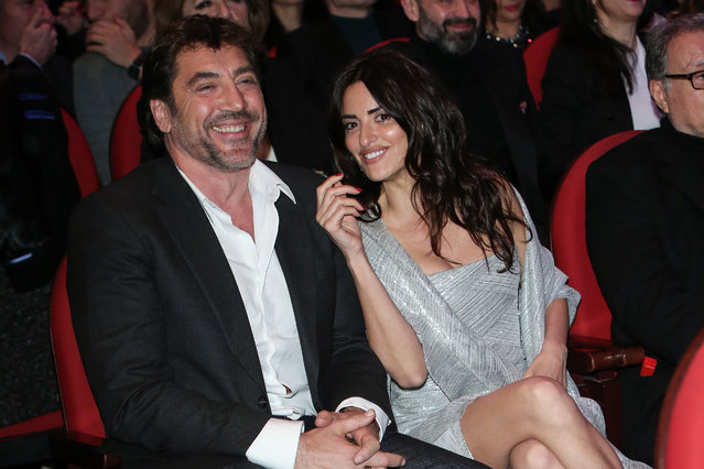 """Javier Bardem and Penelope Cruz attend the """"Union de Actores"""" awards gala at Circo Price theater on March 12, 2018 in Madrid, Spain. (Photo by Pablo Cuadra/Getty Images)"""