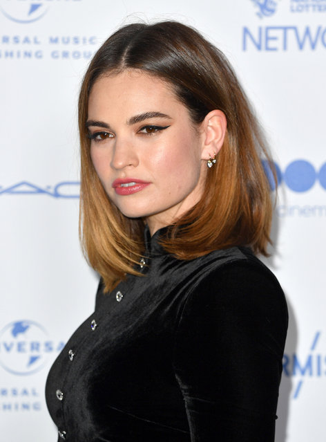 English actress Lily Chloe Ninette Thomson, known professionally as Lily James attends the British Independent Film Awards 2019 at Old Billingsgate on December 01, 2019 in London, England. (Photo by Gareth Cattermole/Getty Images)