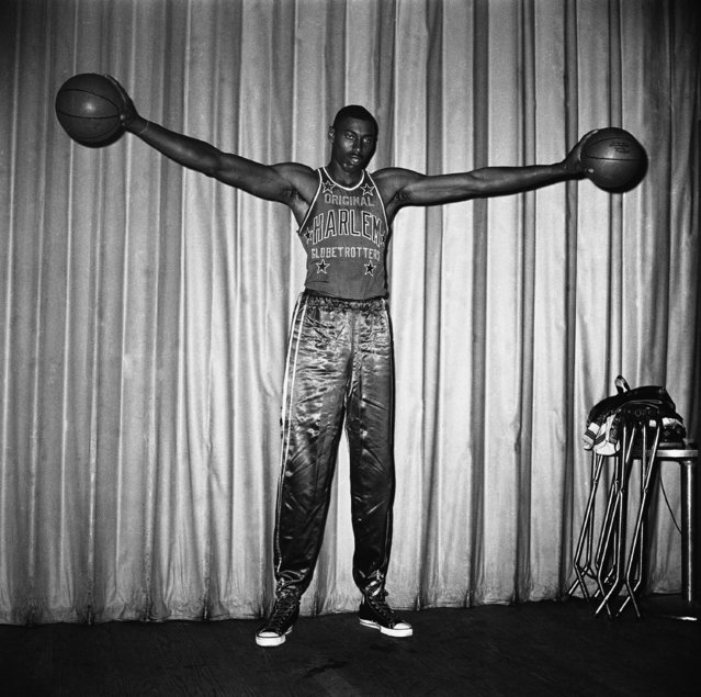 Wilt (The Stilt) Chamberlain, who quit the University of Kansas at the end of his junior year last month, will join the Harlem Globetrotters' Basketball Team, June 17, 1958. (Photo by AP Photo/Camerano)