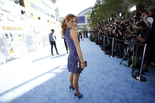 Actress Bella Thorne arrives at the 2015 MTV Movie Awards in Los Angeles, California April 12, 2015. (Photo by Mario Anzuoni/Reuters)
