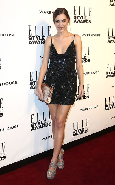 Amber Le Bon attends the Elle Style Awards 2014 at one Embankment on February 18, 2014 in London, England.  (Photo by Tim P. Whitby/Getty Images)