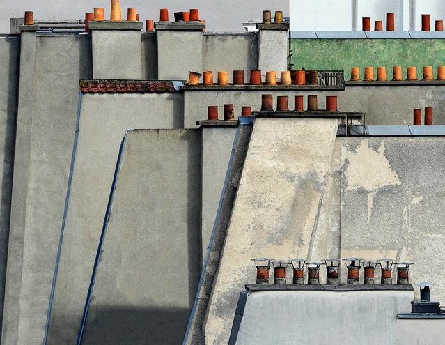 Paris Rooftops 4, 2014. (Photo by Michael Wolf, courtesy of Flowers Gallery)