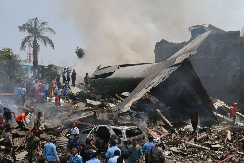 Hercules Crashes in Indonesia