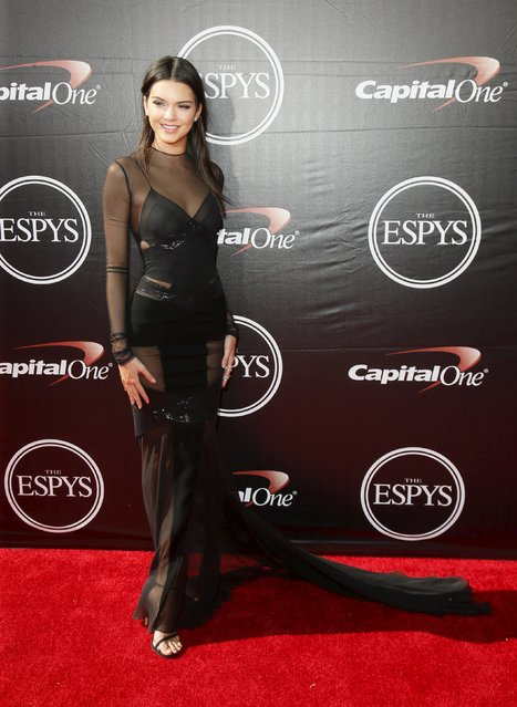 Kendall Jenner arrives for the 2015 ESPY Awards in Los Angeles, California July 15, 2015. (Photo by Danny Moloshok/Reuters)
