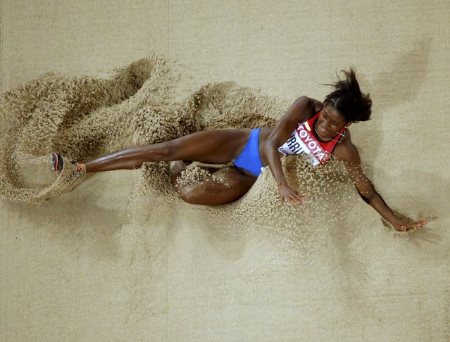 Caterine Ibargruen of Colombia competes in the women's triple jump final during the 15th IAAF World Championships at the National Stadium in Beijing, China August 24, 2015. (Photo by Fabrizio Bensch/Reuters)