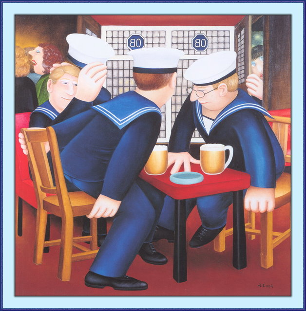 Sailors. Artwork by Beryl Cook