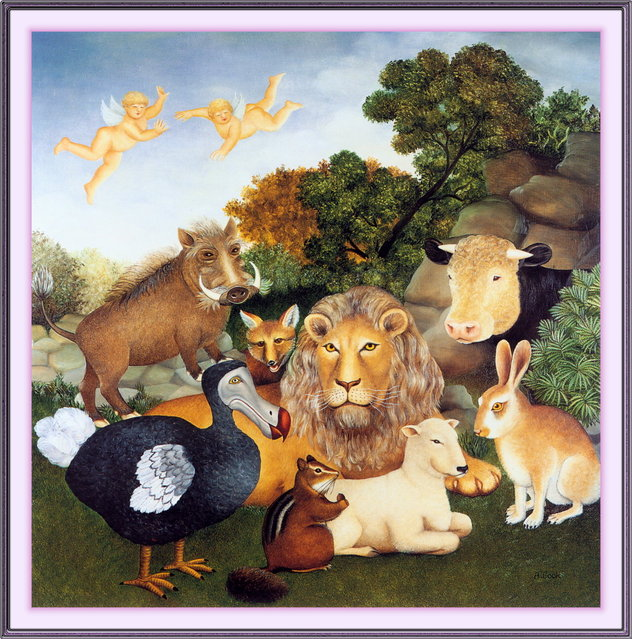 The Peaceable Kingdom. Artwork by Beryl Cook