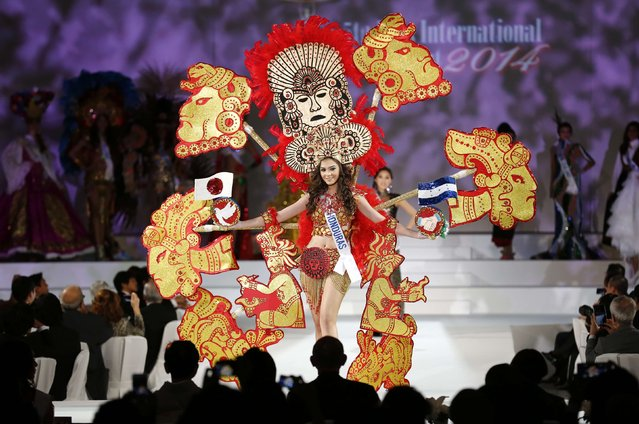 Monica Brocato of Honduras poses in national dress during the 54th Miss International Beauty Pageant in Tokyo November 11, 2014. (Photo by Thomas Peter/Reuters)