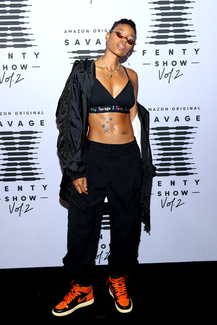 In this image released on October 1, Nicole Chanel attends Rihanna's Savage X Fenty Show Vol. 2 presented by Amazon Prime Video at the Los Angeles Convention Center in Los Angeles, California; and broadcast on October 2, 2020. (Photo by Jerritt Clark/Getty Images for Savage X Fenty Show Vol. 2 Presented by Amazon Prime Video)
