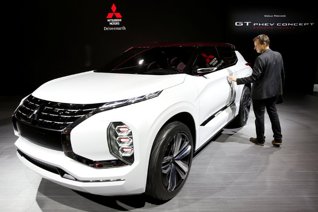 The Mitsubishi GT PHEV Concept car is displayed on media day at the Paris auto show, in Paris, France, September 29, 2016. (Photo by Benoit Tessier/Reuters)