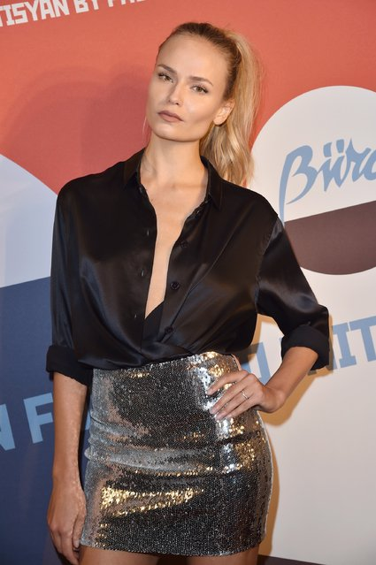 Natasha Poly attends Buro 24/7 Fashion Forward Initiative as part  of Paris Fashion Week Womenswear Spring/Summer 2016 at Hotel Ritz on September 30, 2016 in Paris, France. (Photo by Pascal Le Segretain/Getty Images for Buro 24/7)