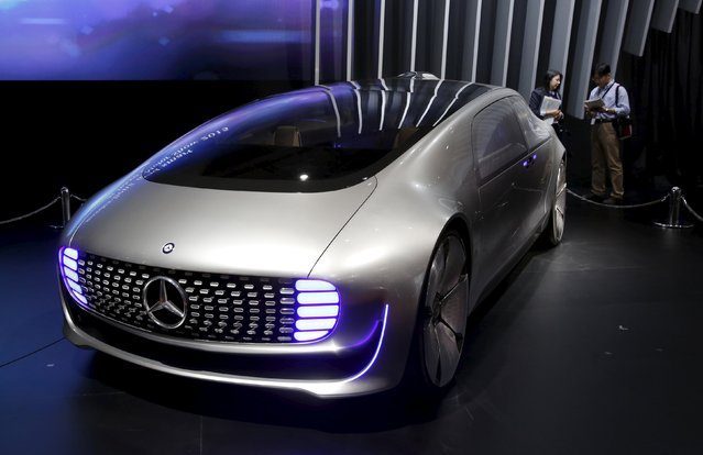Mercedes-Benz F 015 Luxury in Motion research car is on display at the 44th Tokyo Motor Show in Tokyo, Japan, October 28, 2015. (Photo by Toru Hanai/Reuters)