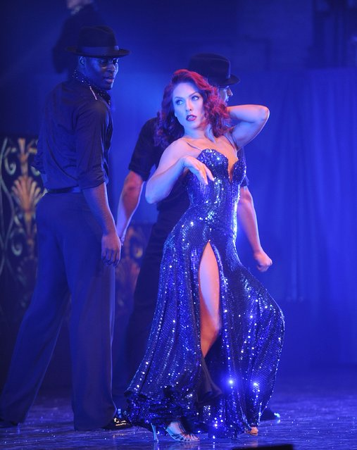 Sharna Burgess perfoms diring Dancing With The Stars Live! 'Dance All Night Tour' at Beacon Theatre on January 6, 2016 in New York City. (Photo by Brad Barket/Getty Images)