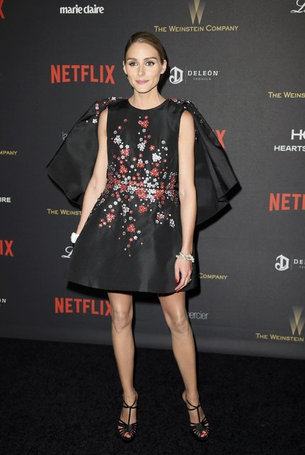 Socialite Olivia Palermo arrives at The Weinstein Company & Netflix Golden Globe After Party in Beverly Hills, California January 10, 2016. (Photo by Danny Moloshok/Reuters)