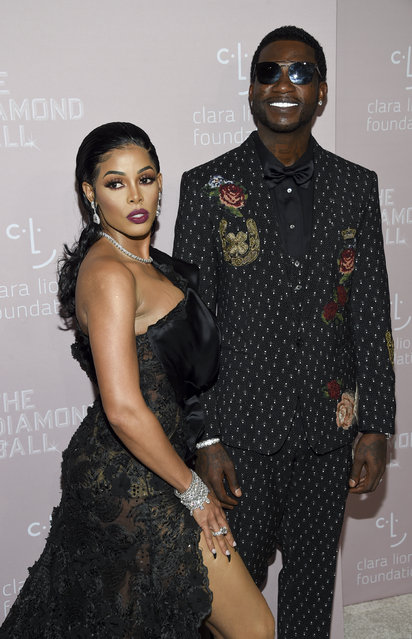 Rapper Gucci Mane, right, and fiancee Keyshia Ka'oir attend the 4th annual Diamond Ball at Cipriani Wall Street on Thursday, September 13, 2018, in New York. (Photo by Evan Agostini/Invision/AP Photo)