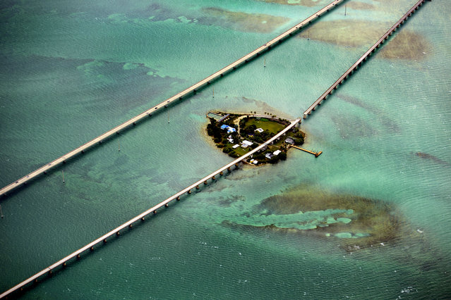 Florida Keys – some of them are connected by a network of highways and bridges, spanning 7 miles. (Photo by Jassen Todorov/Caters News)