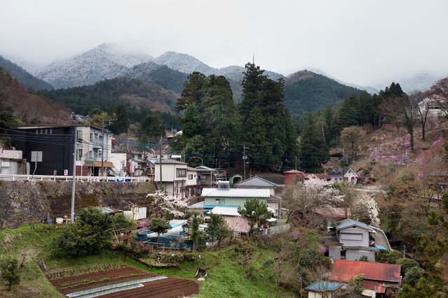 General view of Aone. Aone has just two small general stores and one restaurant. (Photo by Ko Sasaki/The Washington Post)