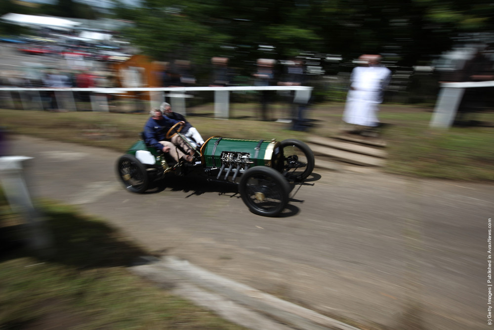 Vintage Sport Cars Compete In The Brooklands Speed Trials
