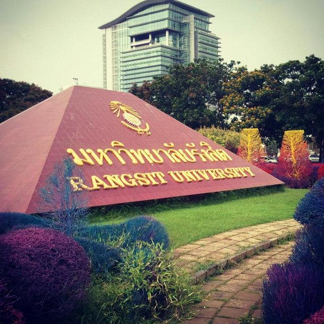 Colourful Campus Of Thailand`s Rangsit University