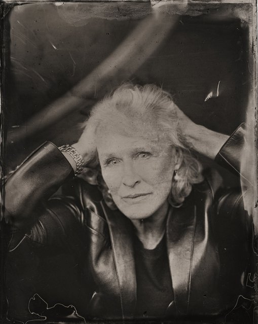 Glenn Close  poses for a tintype (wet collodion) portrait at The Collective and Gibson Lounge Powered by CEG, during the 2014 Sundance Film Festival in Park City, Utah. (Photo by Victoria Will/AP Photo/Invision)