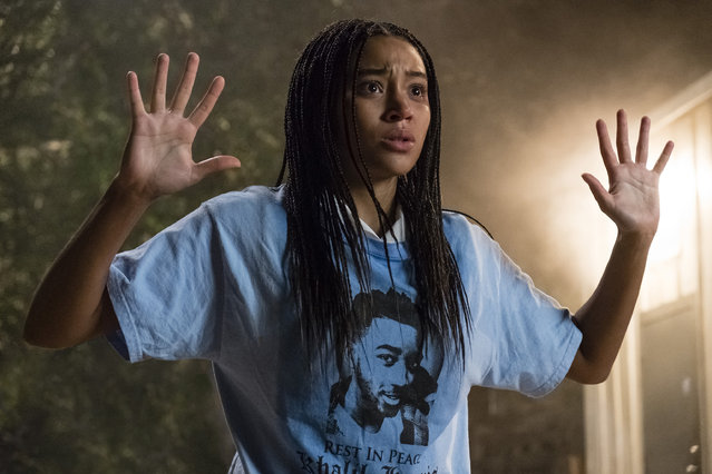 "This image released by 20th Century Fox shows Amandla Stenberg in a scene from ""The Hate U Give"". (Photo by Erika Doss/20th Century Fox via AP Photo)"