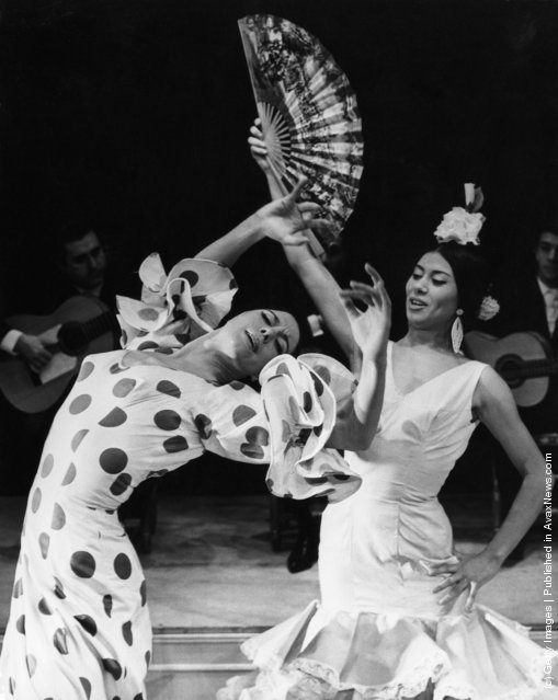 Spanish dancers Manuela Vargas (left) and her sister Bolito Vargas rehearse their flamenco act