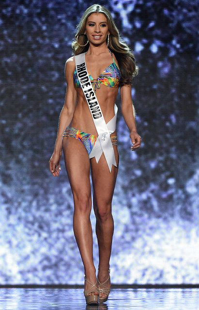 Miss Rhode Island USA Theresa Agonia competes in the swimsuit competition during the 2016 Miss USA pageant preliminary competition at T-Mobile Arena on June 1, 2016 in Las Vegas, Nevada. (Photo by Ethan Miller/Getty Images)