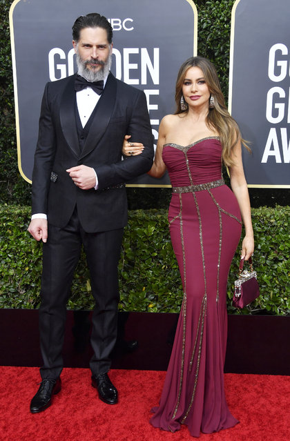 (L-R) Joe Manganiello and Sofía Vergara attend the 77th Annual Golden Globe Awards at The Beverly Hilton Hotel on January 05, 2020 in Beverly Hills, California. (Photo by Frazer Harrison/Getty Images)
