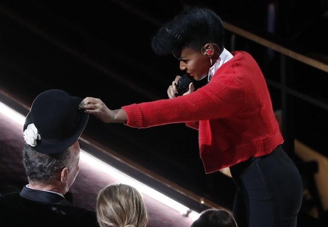 Janelle Monae performs during the Oscars show at the 92nd Academy Awards in Hollywood, Los Angeles, California, U.S., February 9, 2020. (Photo by Mario Anzuoni/Reuters)
