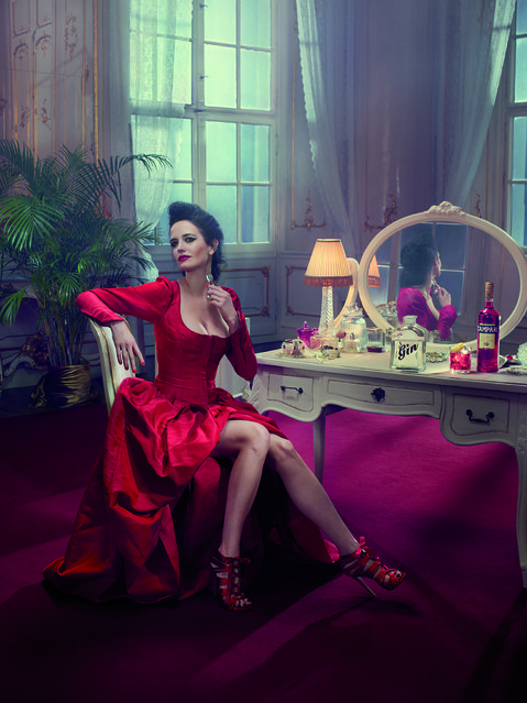 Eva Green poses for the month of January. (Photo by Julia Fullerton-Batten/Campari Calendar 2015)