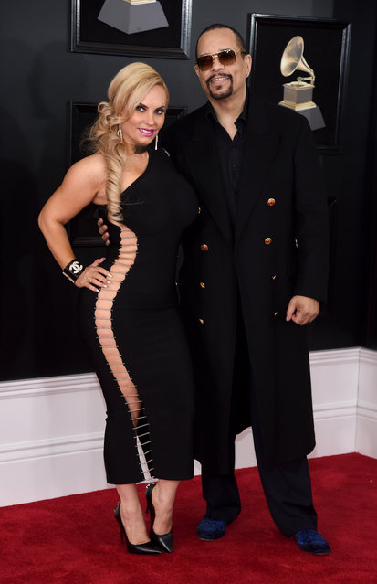 TV personality Coco Austin (L) and recording artist-actor Ice-T attend the 60th Annual GRAMMY Awards at Madison Square Garden on January 28, 2018 in New York City. (Photo by Jamie McCarthy/Getty Images)