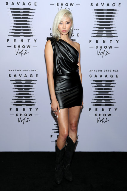 In this image released on October 1, Soo Joo Park attends Rihanna's Savage X Fenty Show Vol. 2 presented by Amazon Prime Video at the Los Angeles Convention Center in Los Angeles, California; and broadcast on October 2, 2020. (Photo by Jerritt Clark/Getty Images for Savage X Fenty Show Vol. 2 Presented by Amazon Prime Video)