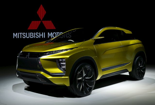 Mitsubishi Motors Corp's concept car eX concept electric crossover is displayed at the 44th Tokyo Motor Show in Tokyo, Japan, October 28, 2015. (Photo by Yuya Shino/Reuters)