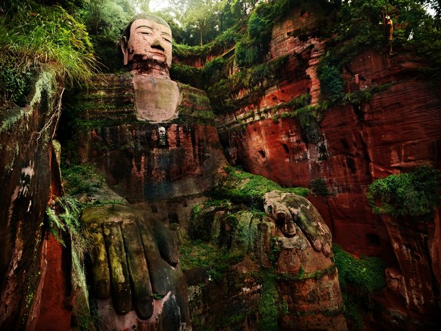The Leshan Giant Buddha, a 71-metre tall stone statue, is carved out of a cliff face in the southern part of Sichuan province in China. (Photo by Suchet Suwanmongkol/500px)