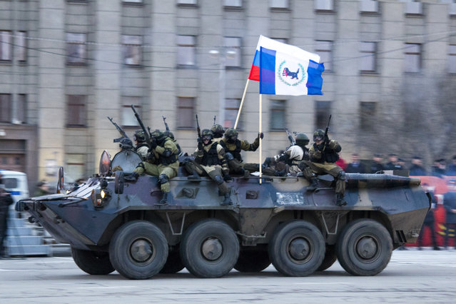 The traditional Victory Parade in Irkutsk, Russia May 9, 2013. (Photo by GazetaIrkutsk)