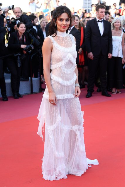 "Cheryl Cole is seen leaving the Martinez Hotel ahead of the ""Ash Is The Purest White (Jiang Hu Er Nv)"" during the 71st annual Cannes Film Festival at on May 11, 2018 in Cannes, France. (Photo by David Fisher/Rex Features/Shutterstock)"