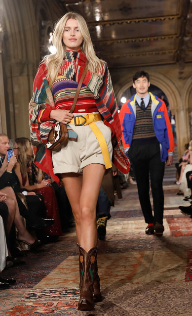 Models present a collection at Ralph Lauren's 50th anniversary fashion event during New York Fashion Week in New York, U.S., September 7, 2018. (Photo by Shannon Stapleton/Reuters)