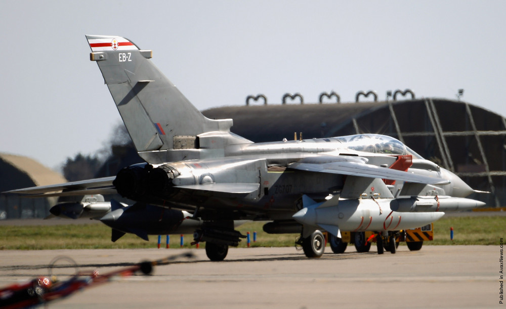 Activity At RAF Bases Ahead Of The Implementation Of A No Fly Zone Over Libya.