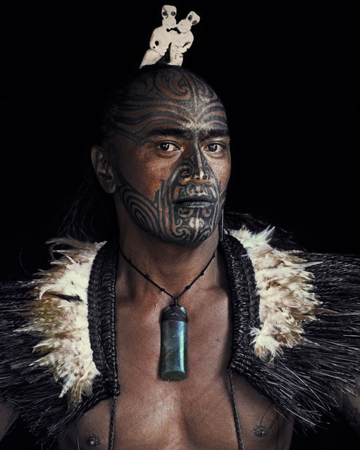 """""""Maori"""". The long and intriguing story of the origine of the indigenous Maori people can be traced back to the 13th century, the mythical homeland Hawaiki, Eastern Polynesia. Due to centuries of isolation, the Maori established a distinct society with characteristic art, a separate language and unique mythology. (Jimmy Nelson)"""