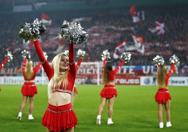 Football Soccer , 1. FC Koeln vs TSG 1899 Hoffenheim, German Cup (DFB Pokal), Rheinenergie arena, Koeln, Germany on October 26, 2016. Koeln's cheerleaders in action. (Photo by Wolfgang Rattay/Reuters)