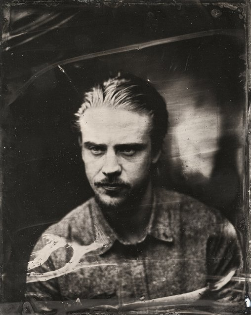 Boyd Holbrook poses for a tintype (wet collodion) portrait at The Collective and Gibson Lounge Powered by CEG, during the 2014 Sundance Film Festival in Park City, Utah. (Photo by Victoria Will/AP Photo/Invision)