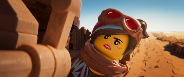 "This image released by Warner Bros. Pictures shows the character Lucy/Wyldstyle, voiced by Elizabeth Banks, in a scene from ""The Lego Movie 2: The Second Part"". (Photo by Warner Bros. Pictures via AP Photo)"