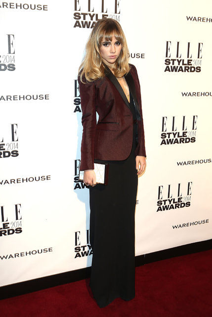 Suki Waterhouse attends the Elle Style Awards 2014 at one Embankment on February 18, 2014 in London, England. (Photo by Tim P. Whitby/Getty Images)