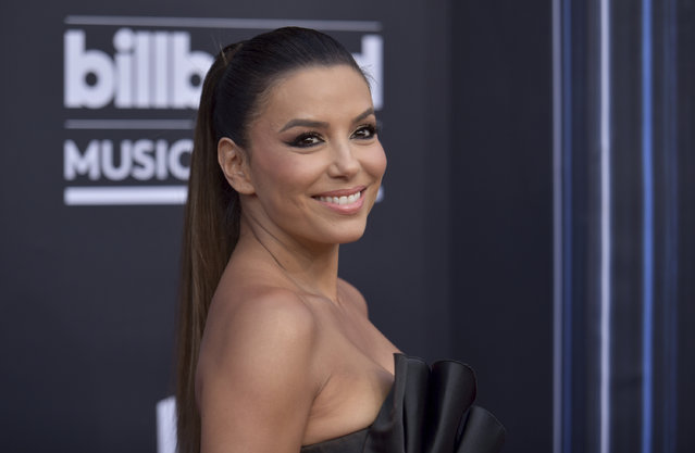 Eva Longoria arrives at the Billboard Music Awards on Wednesday, May 1, 2019, at the MGM Grand Garden Arena in Las Vegas. (Photo by Richard Shotwell/Invision/AP Photo)
