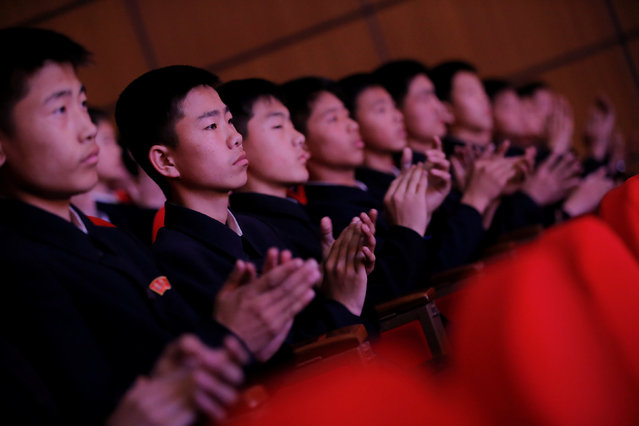Spectators clap hands during a performance at the Mangyongdae Children's Palace in central Pyongyang, North Korea May 5, 2016. (Photo by Damir Sagolj/Reuters)